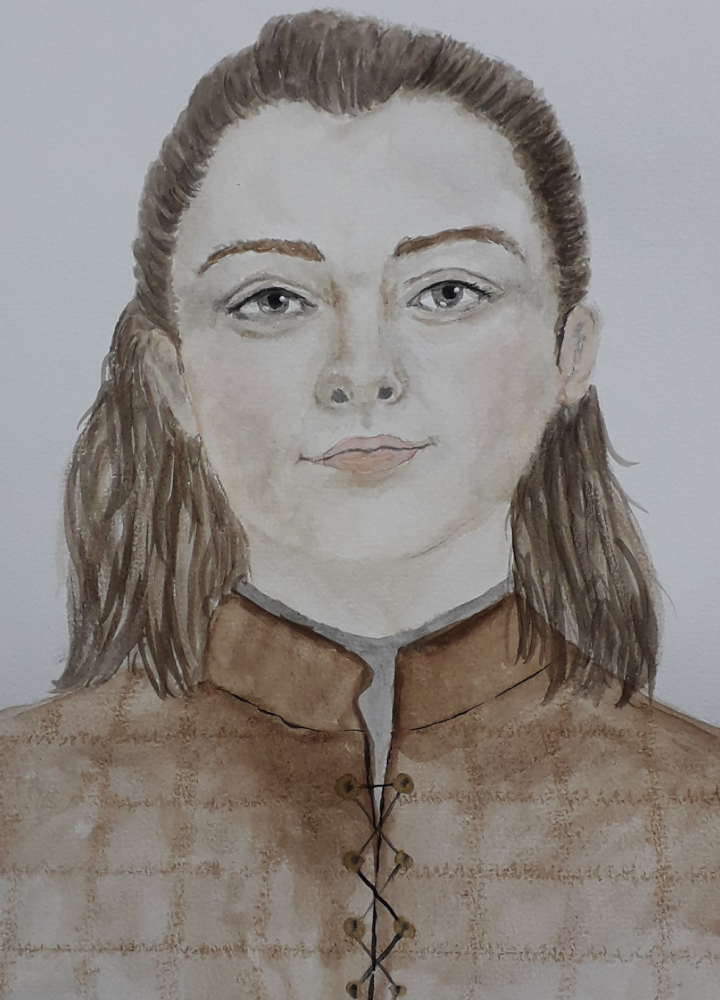 Game of Thrones Arya Stark Fanart Porträt